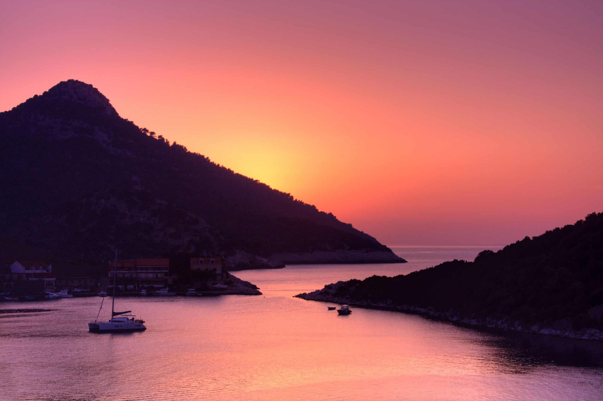 lastovo sunset