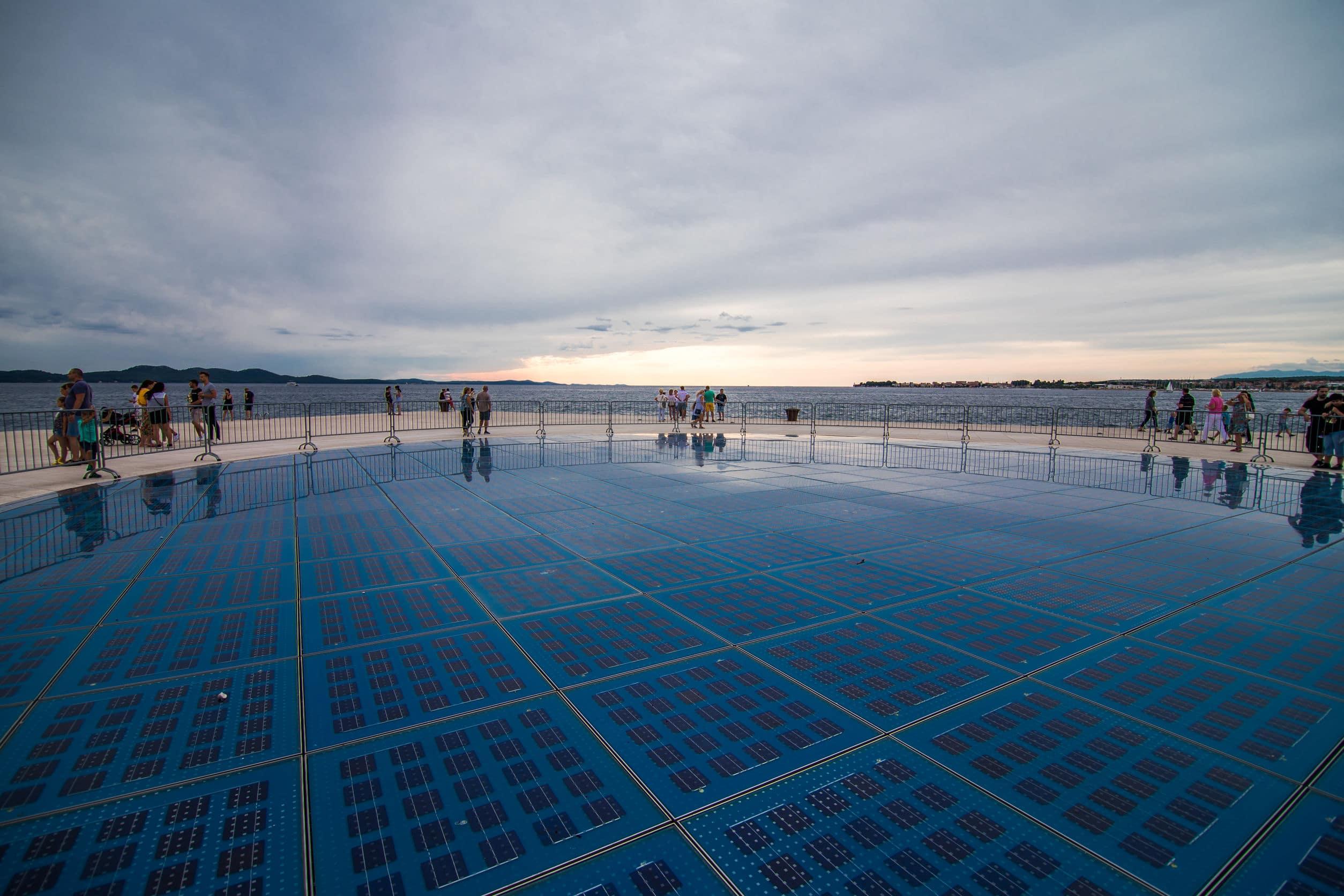 sun stage in Zadar Croatia