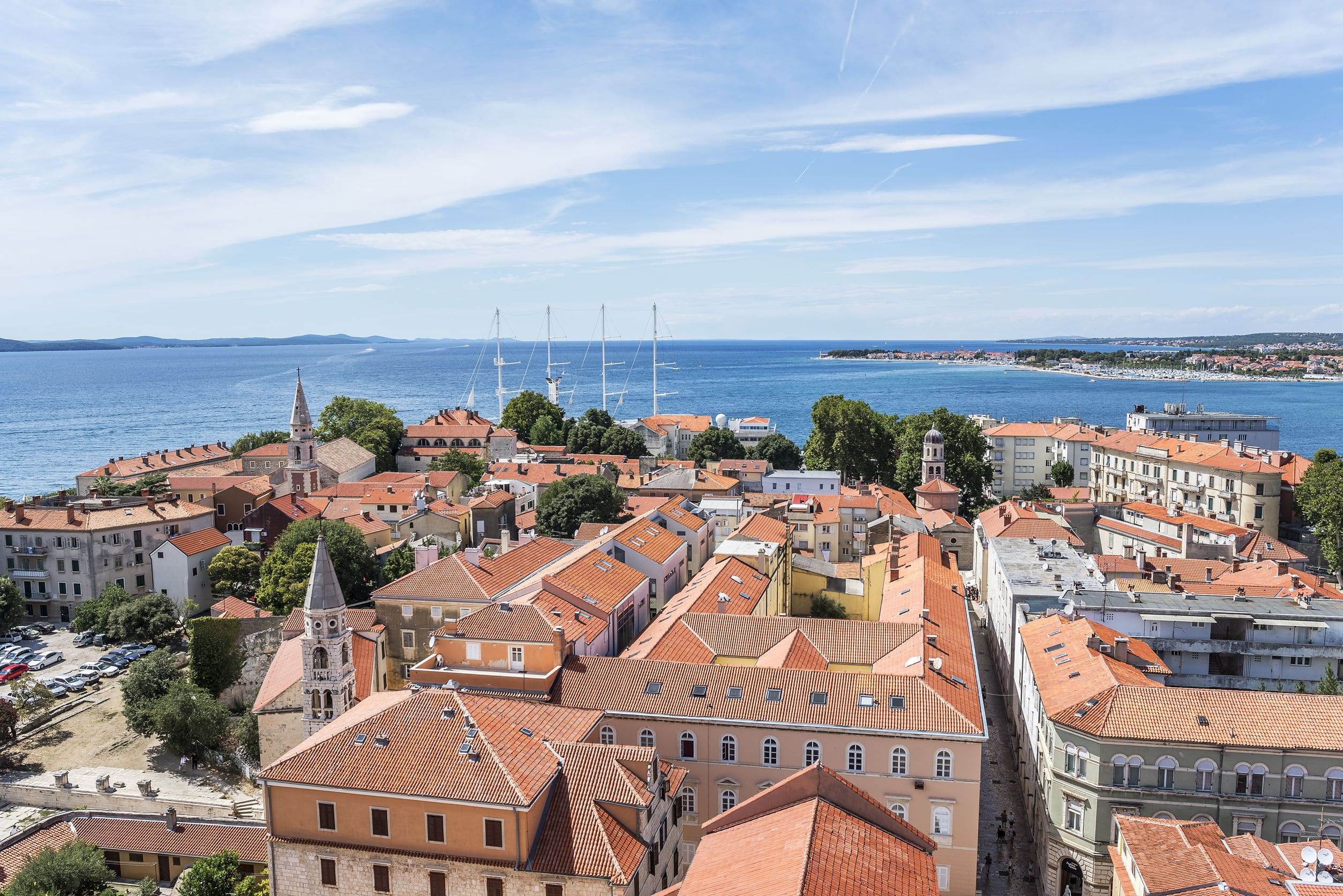 Zadar city from tower. Dalmatia. Croatia.